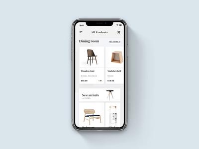 Furniture Store App Concept