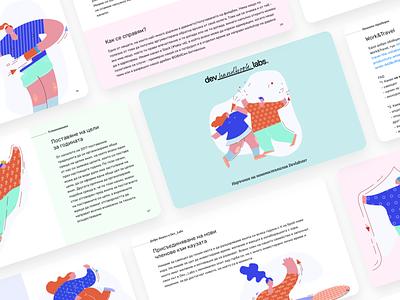 Dev_handbook_Labs book employee company handbook illustration design ui