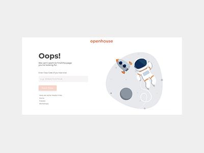404 : Class Not Found ui 404 error logo web illustration design