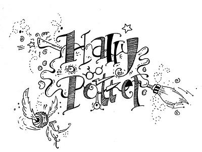 Harry Potter Doodle harrypotter doodle vector illustration design
