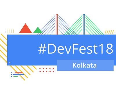 Devfest Logo web icon vector logo flat illustration design