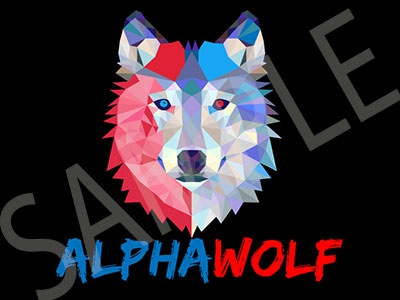 """Alpha Wolf"" Wolf Pictorial Youtube Channel Logo"
