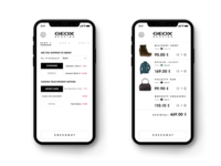 Geox App checkout