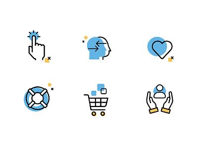 Alfred icons interaction landing icons iconography illustration visual ux ui web