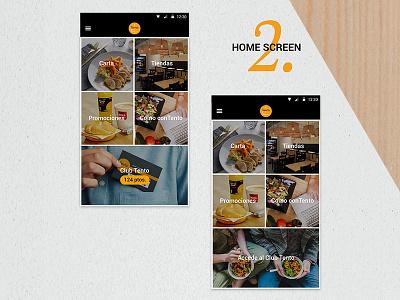 Tento App home screen iot ios android foodie uidesign visual ui appmobile mobile app