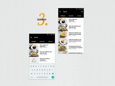 Tento App Search iot ios android foodie uidesign visual ui appmobile mobile app