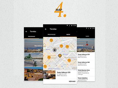 Tento App Maps iot ios android foodie uidesign visual ui appmobile mobile app
