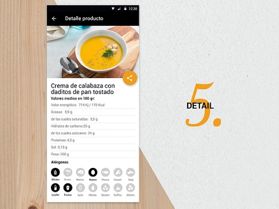 Tento App Detail iot ios android foodie uidesign visual ui appmobile mobile app