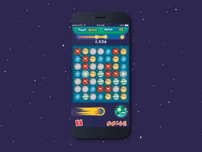 3Space Game space app android ios game interfaces ux visual design ui apps gaming
