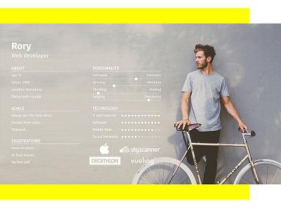 Personas cards users user ui profiles personas persona minimalism grey clean card