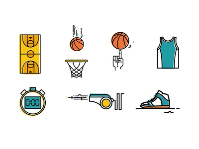Icon Set for Basketball app