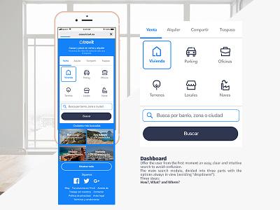 Dashboard Trovit web app web ux ui search minimal interface identity flat dashboard clean application app