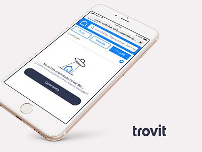 Empty Screen Trovit web app web ux ui search minimal interface identity flat dashboard clean application app