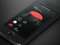 SOOSHI sooshi ios 3d iphone interface ui sushi appstore rendering apple food japanese