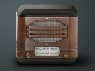 Vintage Radio iOS Icon vintage radio ios icon woooooood