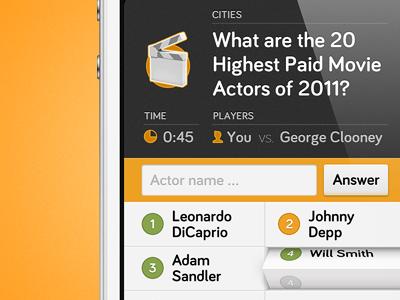 Quiz App iPhone UI quiz app user interface iphone ios rendering screenshot icon