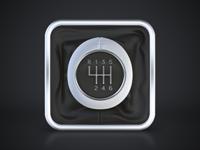 Gear Shift Icon gear shift icon ios iphone ipad car gear shift driver road