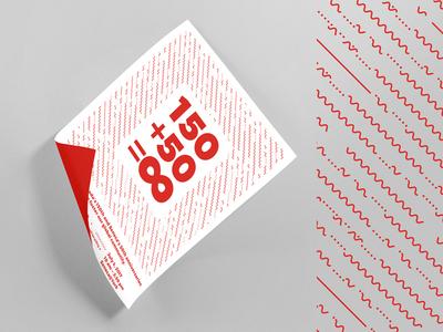 SSF 150+50 illustrator typography red design poster
