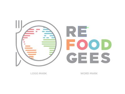 Refoodgees Logo color typography branding design logo