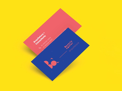 Architecture Consultancy identity v1 card business blue yellow red design architecture identity