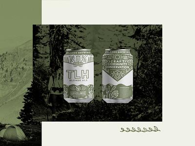Grasslands Brewery Beer Can Label Design pattern design illustration packaging design beverage packaging brewery beer art beer can design beer can