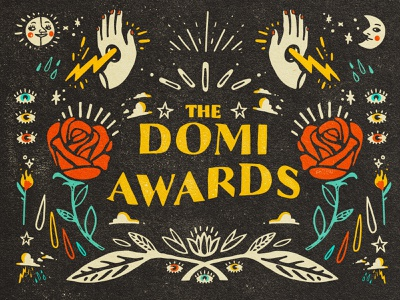 Domi Awards - event visual identity visual identity lettering vector art illustration vintage visual identity design events