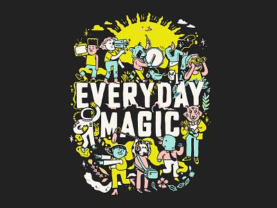 Everyday Magic Illustration illustration design cinema film characters illustration