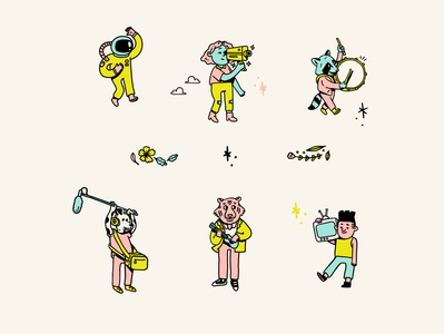 Wonderscope Characters film characters character design illustration design visual identity illustration
