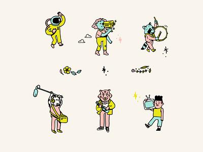 Wonderscope Characters film characters character design illustration design visual identity illustration