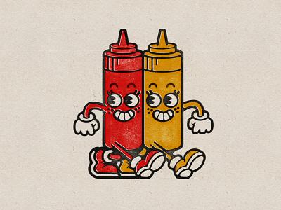 Ketchup & Mustard mustard ketchup illustration