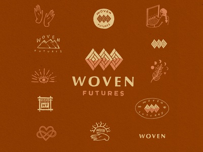 Woven Brand identity illustrated logo logo graphic design logo design visual identity design illustration