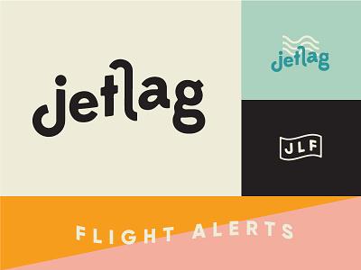 jetlag brand identity wordmark jetlag flight alerts logo design visual identity brand identity