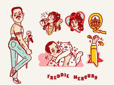 freddie mercury cartoon illustration queenillustration queen freddie mercury freddie