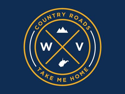 Country Roads Seal logo design seal