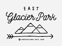 East Glacier Park T Shirt Design