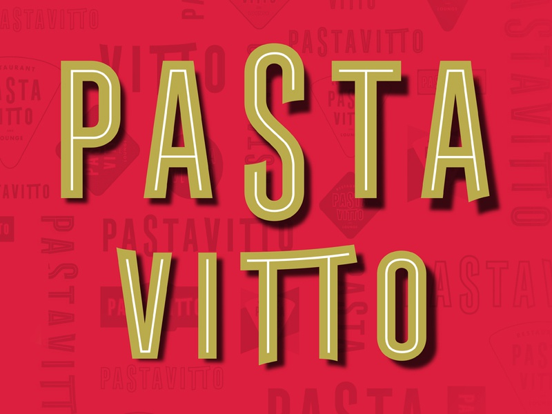 Pasta Vitto Logo typography italian restaurant branding design restaurant design logo type art