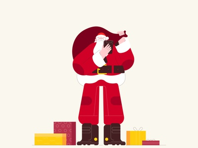 Character Santa aftereffects motion dribbble animation design minimal characters illustration character