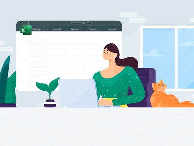 Illustration Daily Standup Excel Geekbot standup daily dribbble design minimal characters illustration character