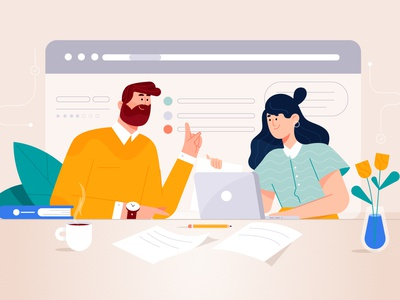 Analyzing the 3 Daily Standup Questions character design characterdesign standup dribbble design minimal characters illustration character