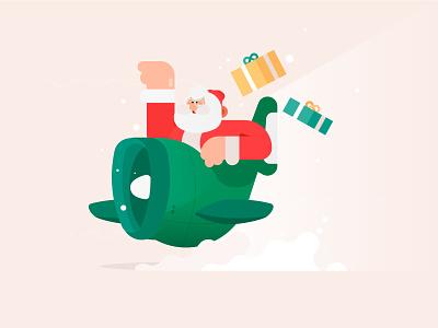 Merry Christmas! merry christmas santaclaus santa dribbble design minimal characters illustration character