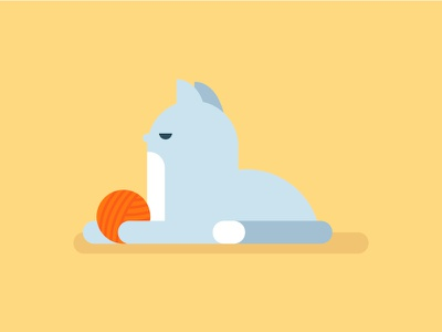 Día Internacional del Gato minimal wool serious playing cat character animal