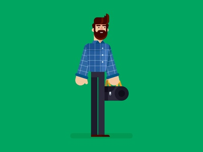 Office 2 office characterflat characters illustration design flat minimal character executive