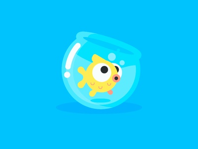 Fish dribbble fish tank illustration fish character