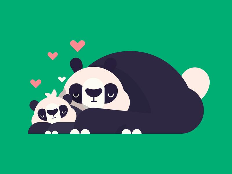 Mom green formas dribbble illustration characters mom bear character