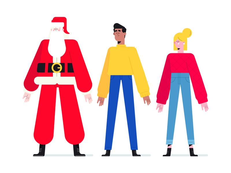 Christmas Characters design character christmas santa claus characters illustration character