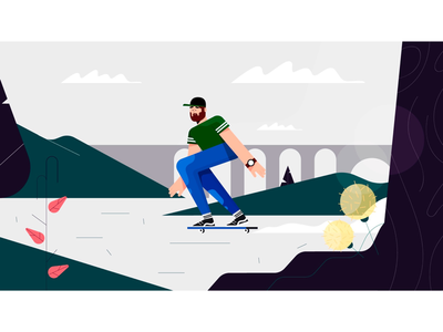 Skateboarding sketchbook characters sketch skate illustration draw character