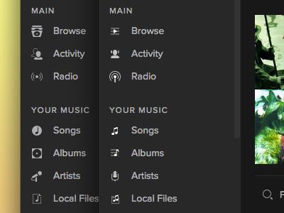 Spotify sidebar icons app icons spotify