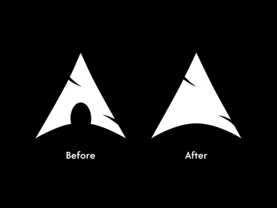 Arch Linux logo clean-up clean monochrome logo experimental linux arch
