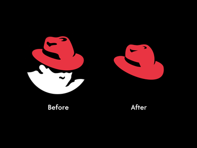 RedHat experimental logo linux redhat