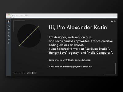 100 days of UI — #4 minimalistic webdesign ui black and white 100daysofui website personal